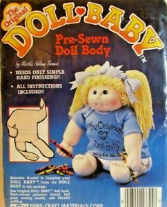 The Original Doll Baby Pre-sewn Doll Body Cabbage Patch Hosiery Supplies 3092