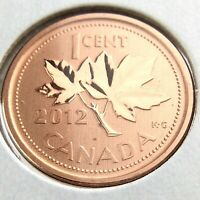 2012 Specimen Canada 1 One Cent Penny Uncirculated Canadian Coin N667
