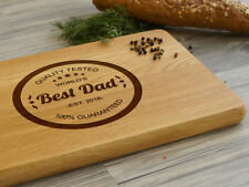 Personalized Cutting Board World's Best Dad Christmas Gift for Dad Choping Board