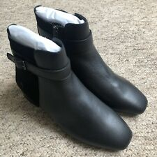 Hush Puppies Black Leather Boots UK5