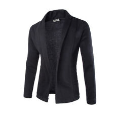Mens Solid Blazer Cardigan Long Sleeve Casual Slim Fit Sweater Jacket Coat Tops