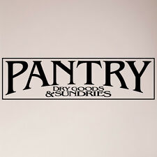 "24"" Pantry Sign Dry Goods and Sundries Sign Kitchen Door Food Wall Decal Sticker"