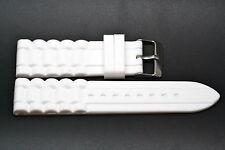 24MM WHITE RUBBER WATERPROOF SPORT DIVER WATCH BAND STRAP FITS FOSSIL NATE