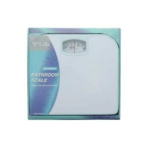 Bathroom Bath Scale Mechanical Dial Heavy Duty Steel 300 LB Body Weight, White