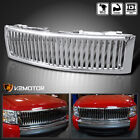 For 2007-2013 Chevy Silverado 1500 Chrome Vertical Front Bumper Hood Grille
