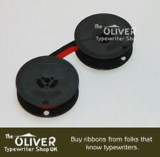 Oliver Portable Ruban Machine à Écrire, Rouge et Noir Haute Qualité