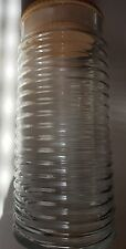 "babylon container storage glass with lid 9"" tall"