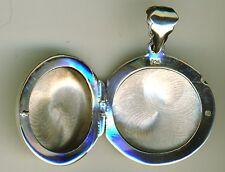 """925 argento Sterling ROUND Plain MEDAGLIONE CIONDOLO diametro 23 mm 7/8 """""""