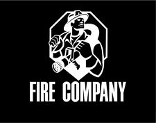 Firefighter Sticker Window Vinyl Decal with Hose