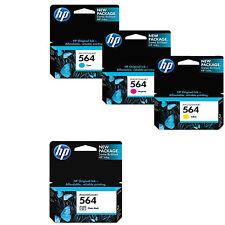 4 Pack Genuine HP 564 Set Ink Cartridges Photo Black Cyan Magenta Yellow C5324