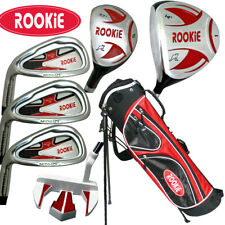JUNIOR LH GOLF SET 7 PCE for KIDS 10yrs plus WITH HYBRID - CHILDRENS GOLF CLUBS