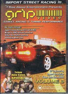 GRIP Volume #3 Import Street Car Racing DVD NEW & SEALED Free Post