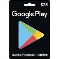 Google play gift card - 25$