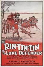 The Lone Defender - Cliffhanger Movie Serial DVD  Rin Tin Tin  Walter Miller