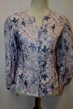 NEW Isabel Marant Etoile Tilo Pink Blue Ruffle Blouse Tunic Top 36 S M $400