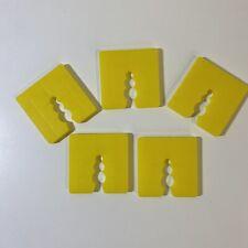 5 Stück Distanzklötze Kunststoff Abstandhalter Unterleger Trageklötze gelb 5mm