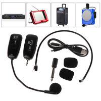 2.4G Wireless Microphone Megaphone Headset Radio Mic For Speech Loudspeaker New