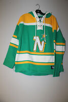 New NHL Minnesota North Stars #9 Monado old time style jersey cotton hoody men L