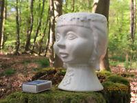 70er VINTAGE Bubikopf Pflanz-Topf / Gefäß D.D.R. Keramik wgp planter 16 cm