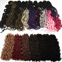 "20"" Curly Faux Locs Crochet Twist Hair Extension Wavy Dreadlocks for Black Women"
