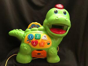 VTech Educational Talking Green Dino Dinosaur Count Toy Musical Chomp Food Light