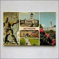 Nottingham Council House Robin Hood University View from Castle Postcard (P416)