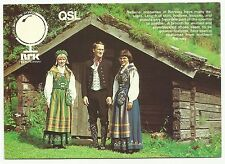 Radio Norway QSL Card 1986, National costumes