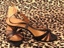 Chaussures à talons vintage bleus pour femme