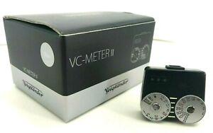 """Tested """"N.MINT IN BOX"""" Voigtlander VC Meter II Black Light Meter From Japan"""