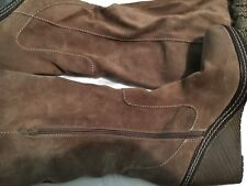 Dr Scholl's Suede Wool Knit Knee High Women Wedge Boots Size 11
