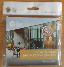 £20 WALES COIN THE WELSH DRAGON 2017 UK £20 FINE SILVER COIN, Uncirculated New!