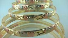 Gold Filled 7 Days bangle Bracelet 3 TONE Semanario de oro laminado (S to XL)