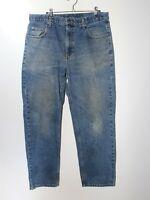 Members Mark Mens Regular Fit Straight High Rise Blue Denim Jeans Size 34x30