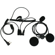 2 Pin Finger PTT Motorcycle Helmet Headset Microphone for Retevis BAOFENG BF-480