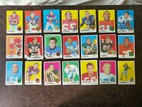 1969 Topps Football Starter Set 24-card lot - Poor to EXMT