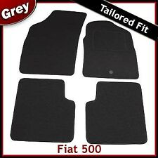 Fiat 500 2007 onwards Tailored Fitted Carpet Car Mats GREY