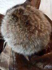 Vtg Women's Brown Raccoon Hat