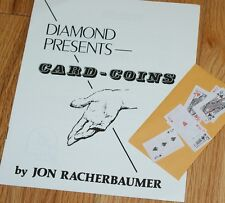 RACHERBAUMER Card Coins book -- (1977, Paul Diamond)  with mini cards       TMGS