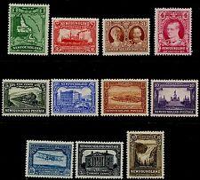 NEWFOUNDLAND 1931 SET/11 MLH SG#198-208  CV £180+ [2245]