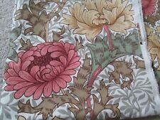 "Arthur Sanderson vintage ""Chrysanthemum"" fabric W48""xL24"" and W48""xL32"""