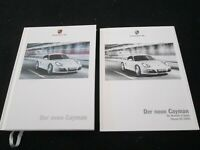 2009 Porsche Cayman S 987.2 GERMAN Hardcover Sales Brochure Detailed 987 Catalog