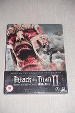 Attack On Titan 2 Live Action Movie Steelbook Blu-ray New Sealed ANIME Region B