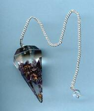Orgone Amethyst Multi-sided Pendulum   Free Pouch!!     ~Divination/Scrying