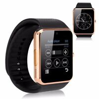 "New Gold 1.54"" GT08 Touch Screen Bluetooth Smart Watch Phone Mate For Android"