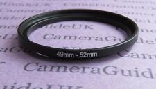 49mm to 52mm Male-Female Stepping Step Up Filter Ring Adapter 49mm-52mm UK