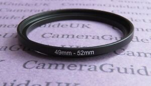 49mm to 52mm Male-Female Stepping Step Up Filter Ring Adapter 49mm-52mm