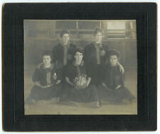 EXTREMELY RARE VINTAGE FEMALE SPORTS: Women's Basketball Team Cabinet Card