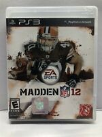 Madden NFL 12 (PlayStation 3, 2011) Football - Complete w/ Manual - Tested