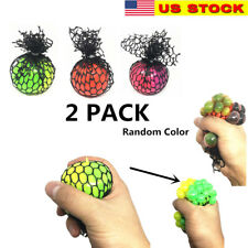 "2x 2"" Squishy Mesh sensory stress reliever ball autism squeeze anxiety fidget"