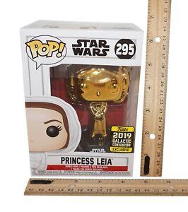 "Princess Leia Star Wars - GOLD Funko Pop 3.5"" Vinyl Toy Figure - GC 2019"